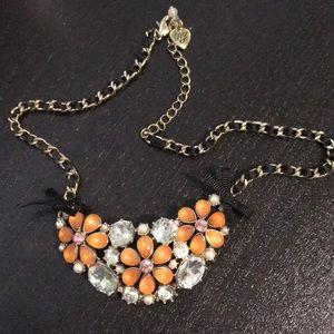 Betsey Johnson Jewelry - Orange floral betsey johnson necklace